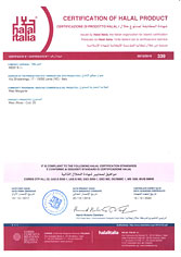 Certification of HALAL product